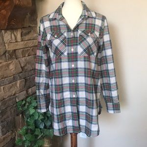 J. Crew Black Label Plaid Button Up Size 4